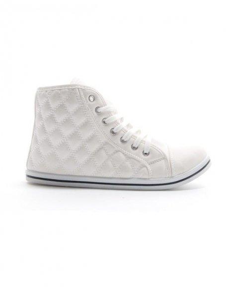 Chaussure femme Sinly: Basket mi montante - blanc