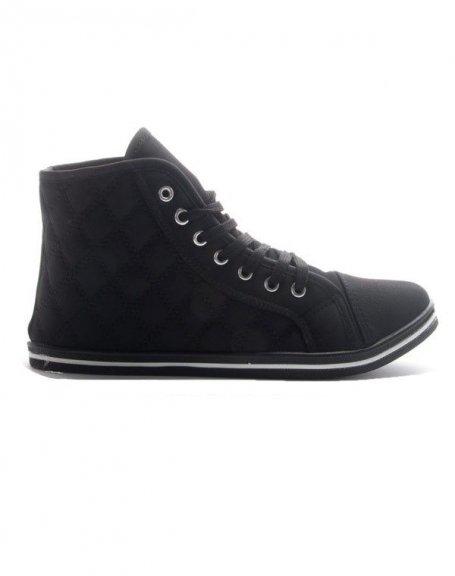 Chaussure femme Sinly: Basket mi montante - noir