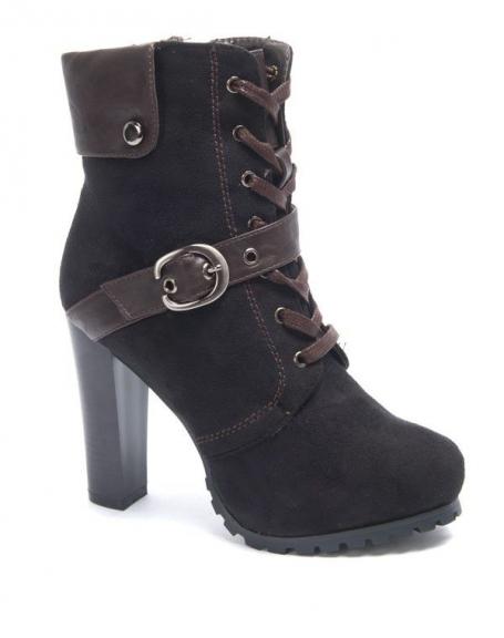 Chaussure femme Sinly: Botte à talon noire