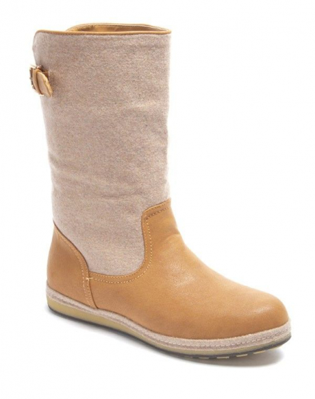 Chaussure femme Sinly: Botte camel