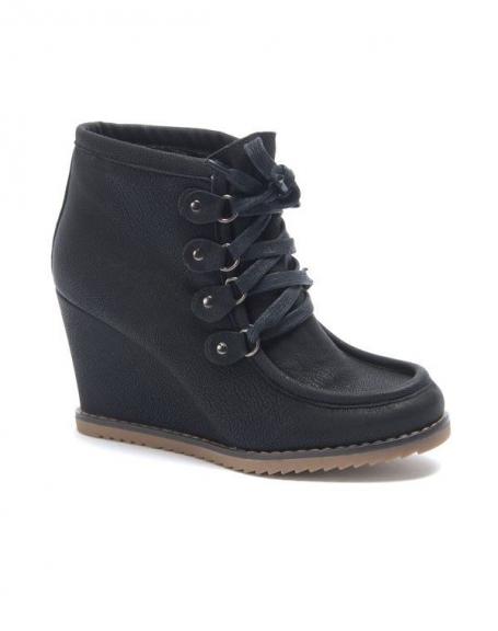 Chaussure femme Sinly: Bottines à talon compensés noire