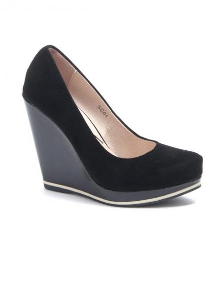 Chaussure femme Sinly: Escarpin compensé noir