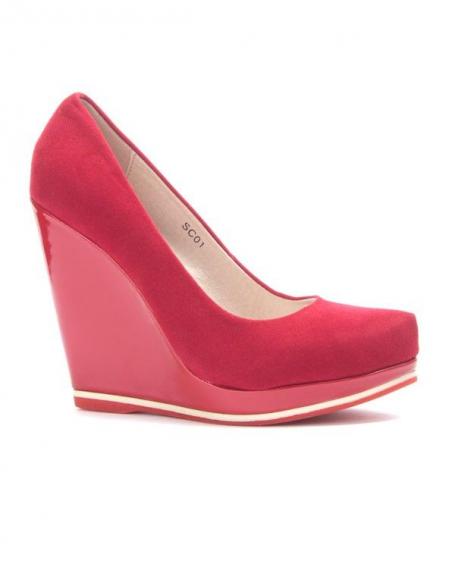 Chaussure femme Sinly: Escarpin compensé rouge