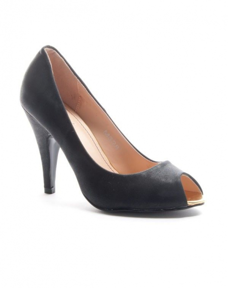 Chaussure femme Sinly: Escarpin ouvert - noir