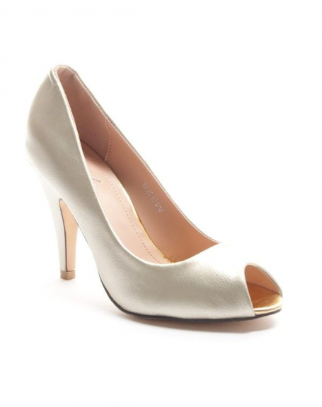 Chaussure femme Sinly: Escarpin ouvert - or