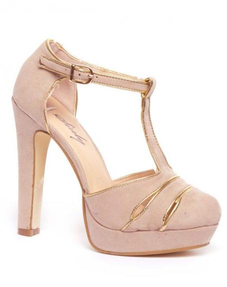 Chaussure femme Sinly: Escarpins beiges