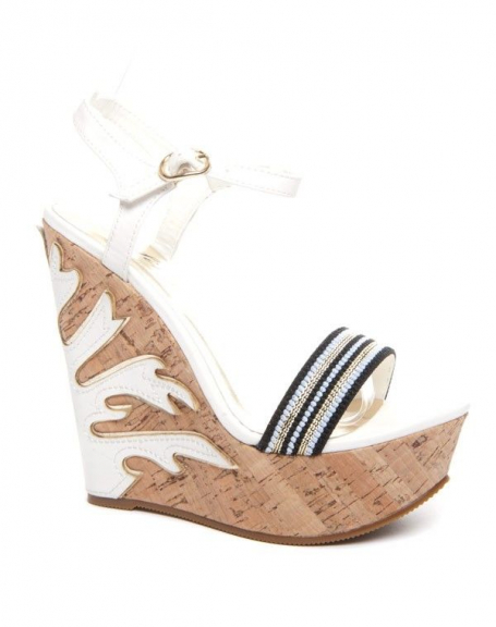 Chaussure femme Sinly: Sandales blanches