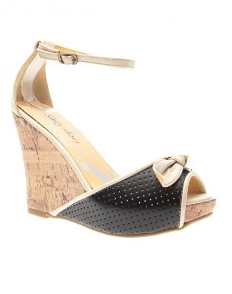 Chaussure femme Sinly Shoes: Escarpin compensé noir