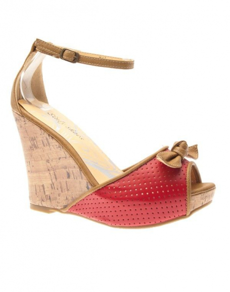Chaussure femme Sinly Shoes: Escarpin compensé rouge