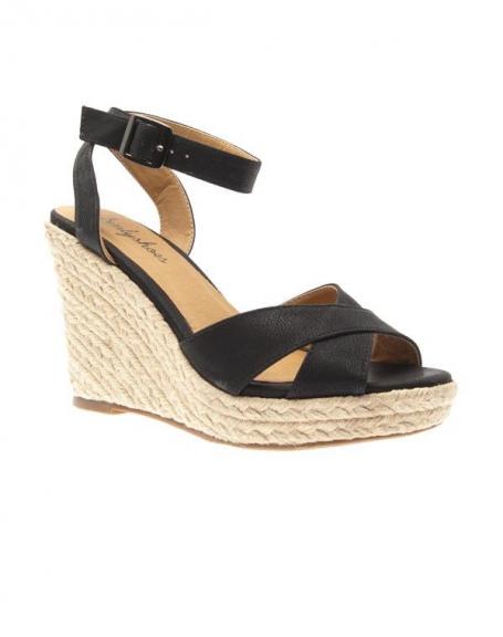 Chaussure femme Sinly Shoes: Escarpins compensés noirs