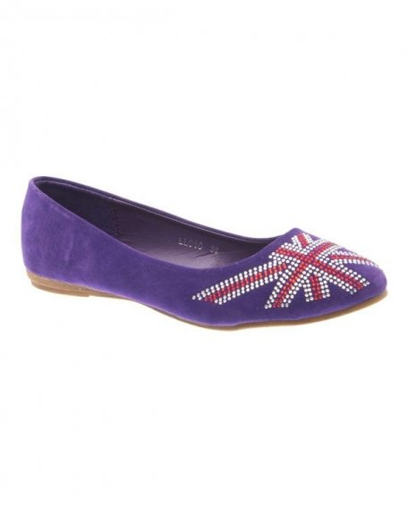 Chaussure femme Style Shoes: Ballerine anglais violet