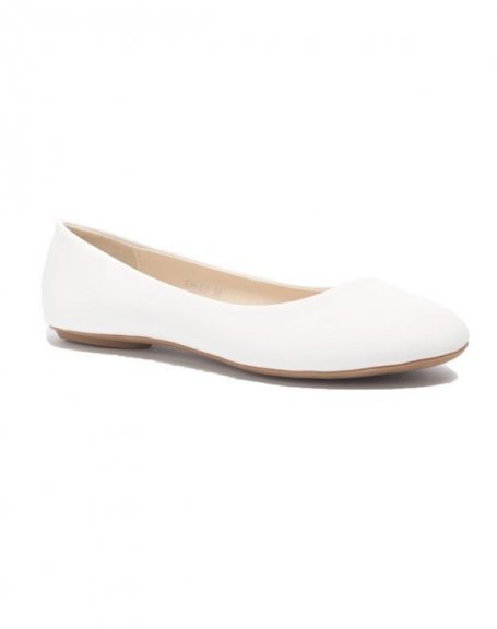 Chaussure femme Style Shoes: Ballerine blanche