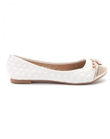 chaussure femme style shoes ballerine blanche