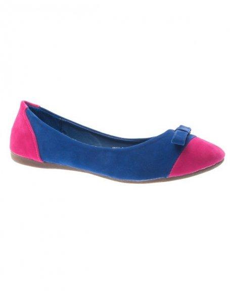 Chaussure femme Style Shoes: Ballerine bleu