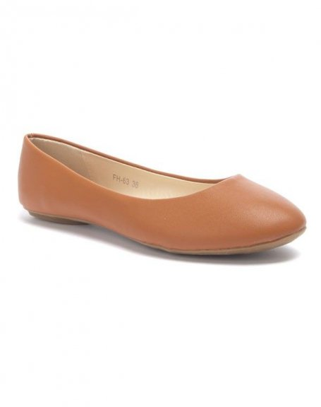 Chaussure femme Style Shoes: Ballerine camel