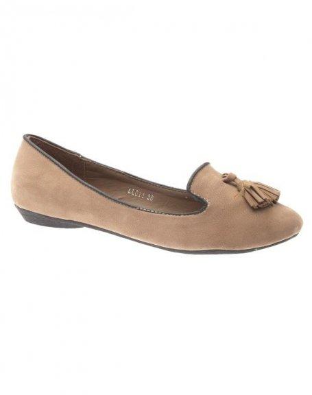 Chaussure femme Style Shoes: Ballerine kaki