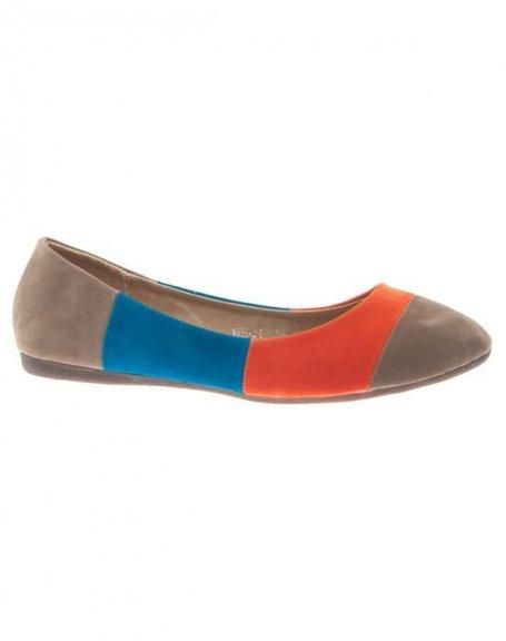 Chaussure femme Style Shoes: Ballerine multicolore kaki