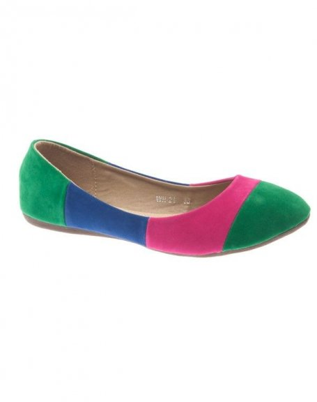 Chaussure femme Style Shoes: Ballerine multicolore vert