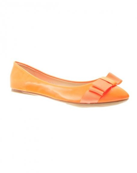 Chaussure femme Style Shoes: Ballerine orange