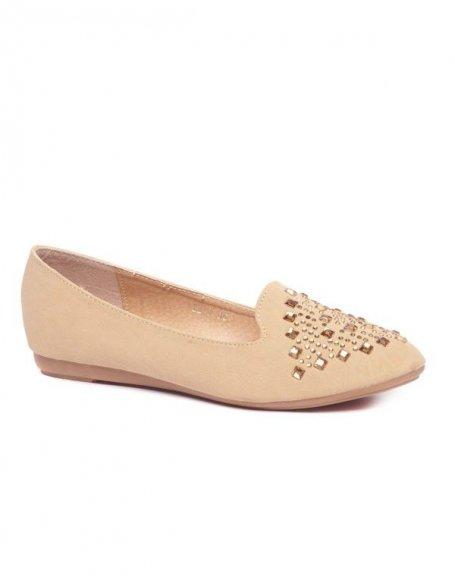 Chaussure femme Style Shoes: Ballerine slipper beige