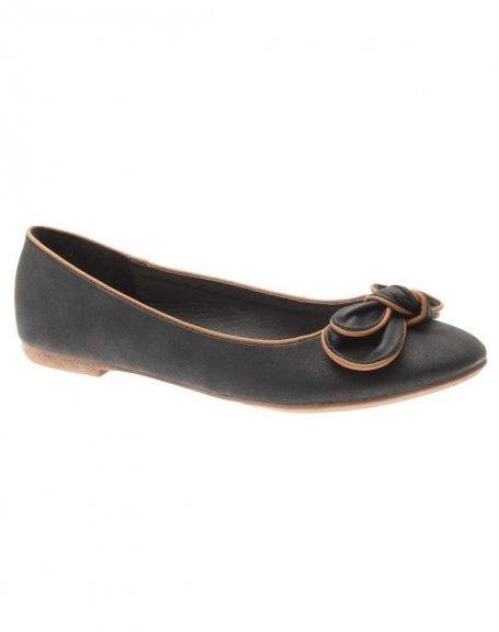 Chaussure femme Style Shoes: Ballerine suède noire