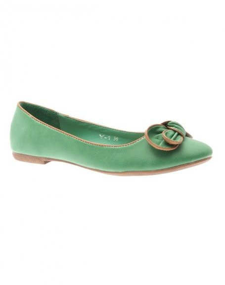Chaussure femme Style Shoes: Ballerine suède vert