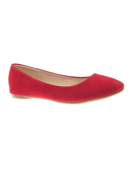 Chaussure femme Style Shoes: Ballerine uni rouge