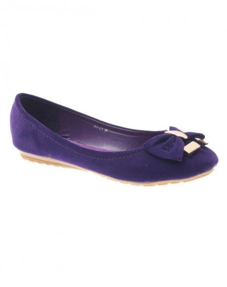 Chaussure femme Style Shoes: Ballerine violet