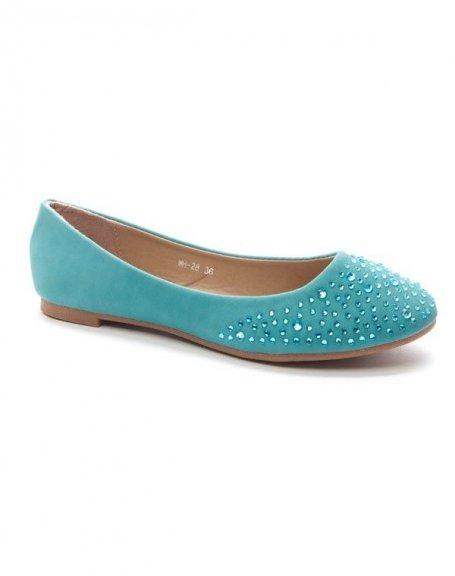 Chaussure femme Style Shoes: Ballerines - bleu