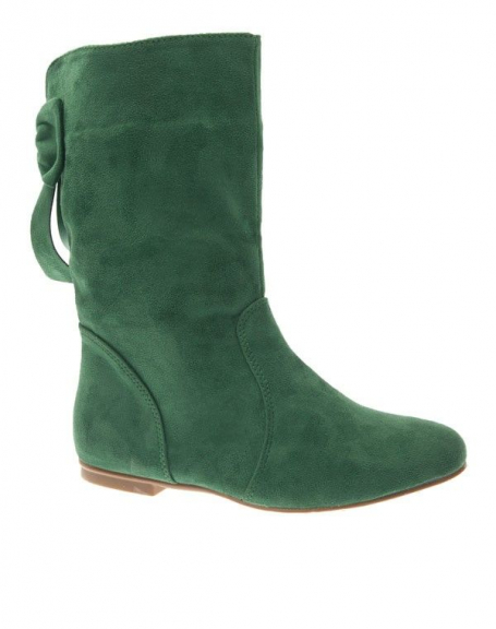 Chaussure femme Style Shoes: Botte plate vert