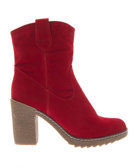 Chaussure femme Style Shoes: Botte rouge