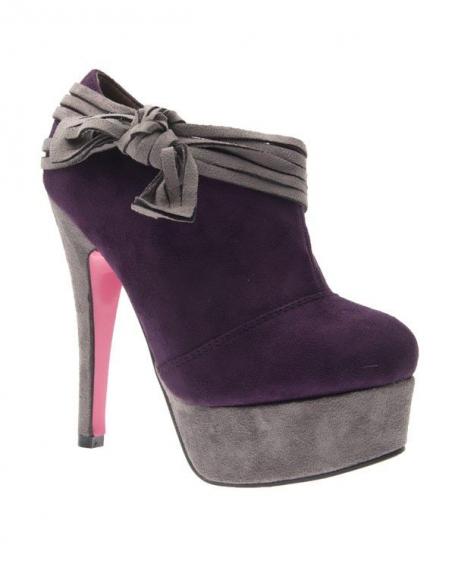 Chaussure femme Style Shoes: Escarpin bi couleur violet