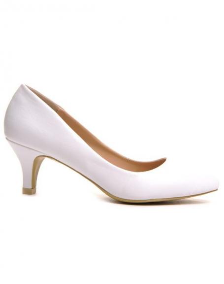 Chaussure femme Style Shoes: Escarpin blanc