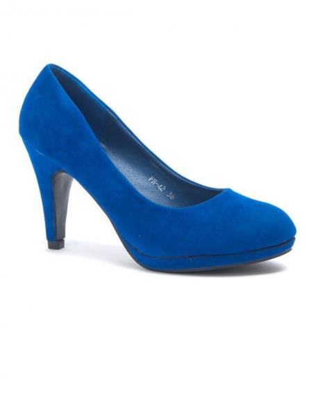 589c0ae40da3c1 Chaussure femme Style Shoes: Escarpin bleu bout rond