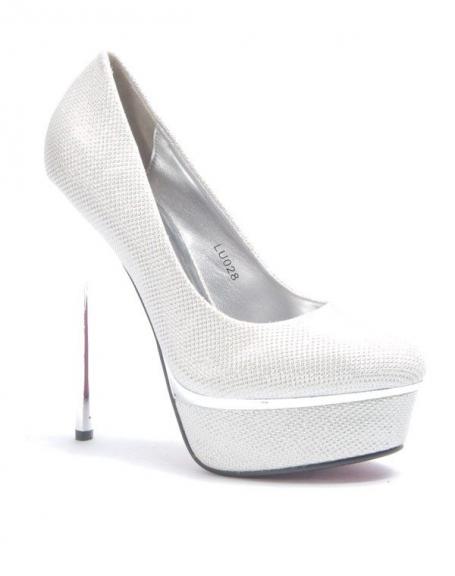 Chaussure femme Style Shoes: Escarpin brillant Blanc
