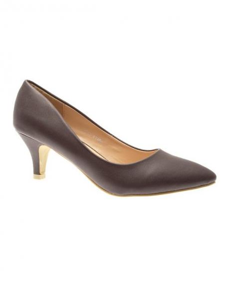 Chaussure femme Style Shoes: Escarpin marron