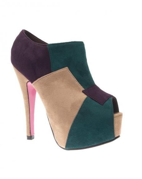 ShoesEscarpin Style Femme Beige Chaussure Couleur Multi y0OvmNn8w