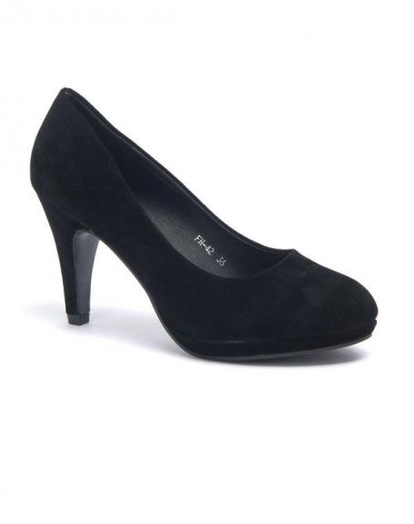 Chaussure femme Style Shoes: Escarpin noir bout rond