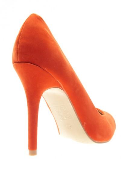 Chaussure femme Style Shoes: Escarpin orange