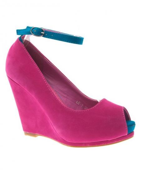 Chaussure femme Style Shoes: Escarpin ouvert fuchsia