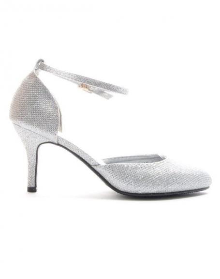 Chaussure femme Style Shoes: Escarpin pailleté - argent