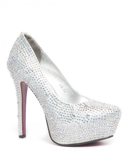 Chaussure femme Style Shoes: Escarpins à strass argent