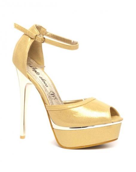 Chaussure femme Style Shoes: Escarpins dorés