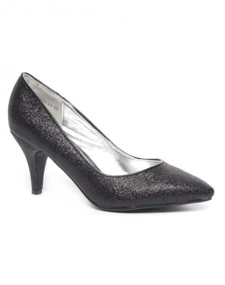Chaussure femme Style Shoes: Escarpins noirs pailletés