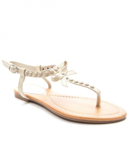 Chaussure femme Style Shoes: Sandale beige