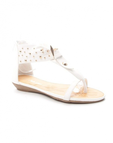 Chaussure femme Style Shoes: Sandale - blanc