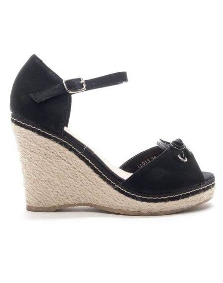 Chaussure femme Style Shoes: Sandale compensée - noir