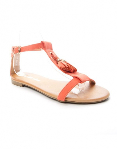 Chaussure femme Style Shoes: Sandale - corail