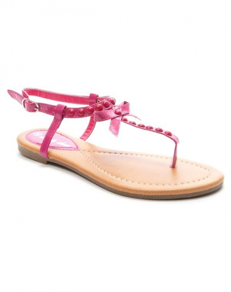 Chaussure femme Style Shoes: Sandale fuchsia