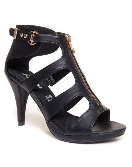Chaussure femme Style Shoes: Sandales noires à talons